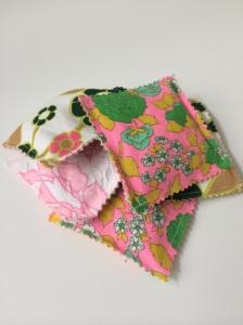 organic lavender sachet with vintage fabrics